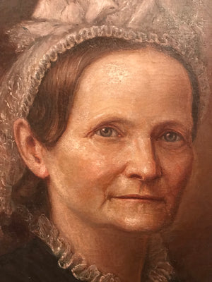 A Victorian portrait painting of a fine older lady