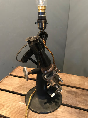 A Repurposed Cast Iron Microscope Lamp
