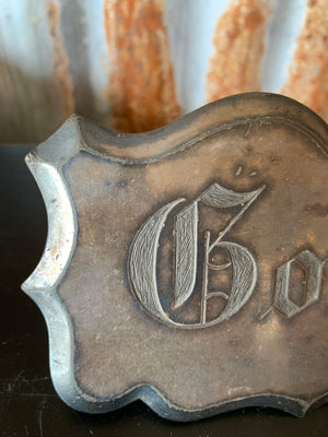 A Victorian engraved silver plated coffin plate plaque