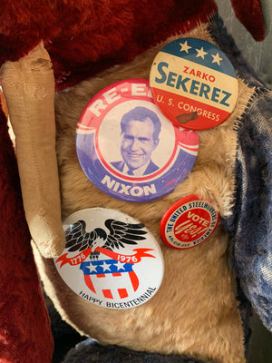 A straw filled Republican elephant mascot