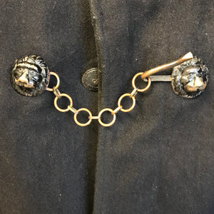 An early woolen police cape with black lion head clasp- Hertfordshire Constabulary