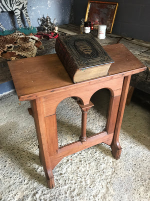 A large pine Gothic Revival lectern