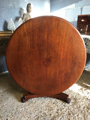 A tilt top pedestal base Country House coffee table