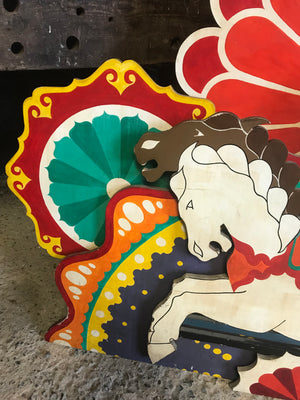 A Rex Whistler for Cecil Beaton style horse carousel fairground panel