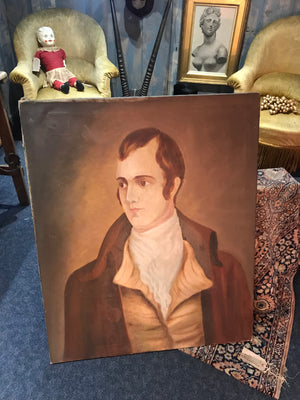 A 19th Century Scottish School oil portrait of Robert Rabbie Burns