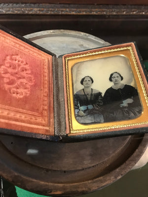 A 19th Century daguerreotype cased photograph of two ladies