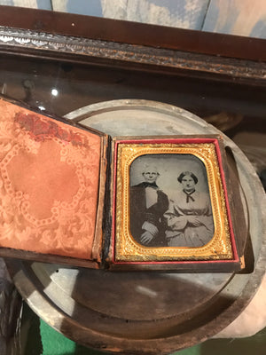 A 19th Century daguerreotype cased photograph of a couple