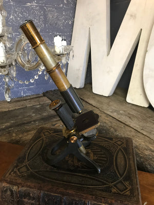 A 19th Century James Swift brass monocular microscope