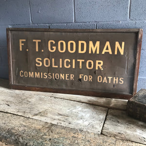 A Victorian gilt solicitor trade advertising sign