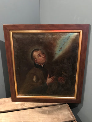 A 19th Century German religious oil painting