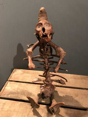 A 19th Century African witch doctor monkey staff fetish
