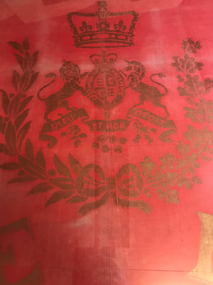 An original red and gold King Edward VIII 1937 coronation banner