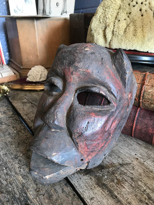 A large African tribal monkey head mask