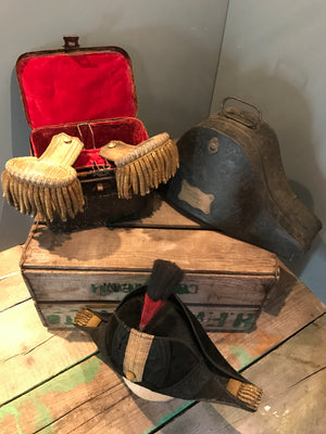 A 19th Century British Royal Navy Named Bicorn Hat and Case
