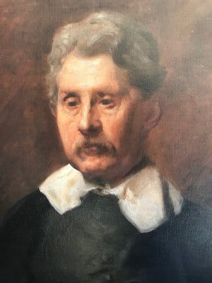 A 19th Century Dutch School oil portrait in the style of Rembrandt