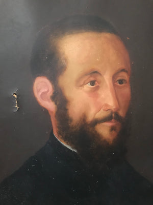 A 19th Century oil portrait of a bearded gentleman