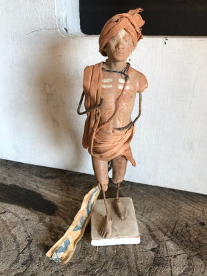 A 19th Century Raj Era Indian pottery Krishnanagar clay figure