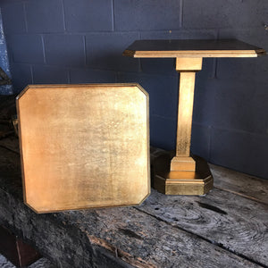 A pair of Art Deco Hollywood Regency gilt side tables