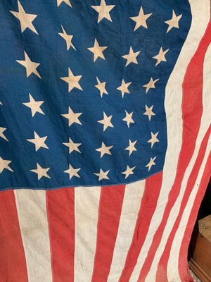 A printed fabric 48 Star Stars and Stripes flag