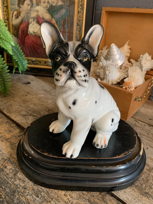 A ceramic French bulldog statue by Ceramiche Boxer #1