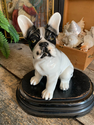 A ceramic French bulldog statue by Ceramiche Boxer #2
