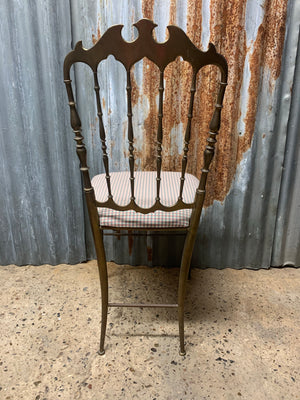 An Italian brass Chiavari chair