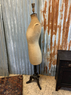 A Siegel and Stockman mannequin on original ebonised base