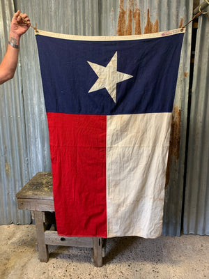 A Texas state flag with Defiance/Annin maker's mark