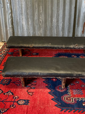 A Victorian church pew kneeler - 155cm