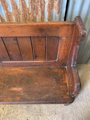 A small Victorian church pew - 154cm