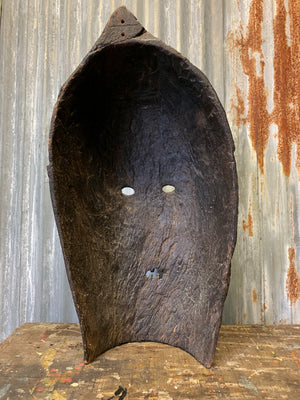 A large wooden carved Oceanian/Australasian tribal mask