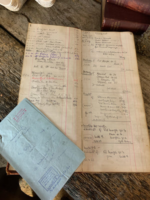 An antiquarian apothecary's ledger