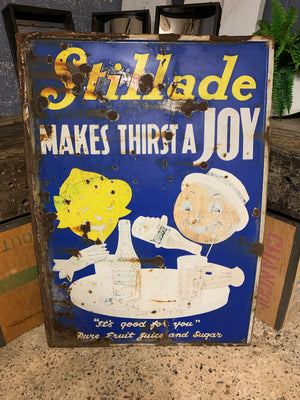 A large Mid-Century Robertson's Stillade enamel advertising sign