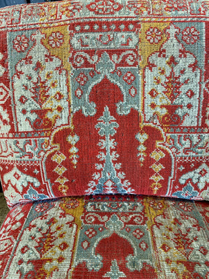 A pair of 19th century kilim carpet chairs