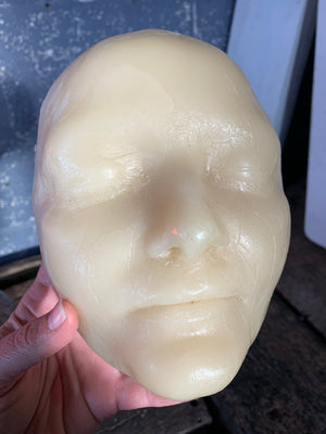 A wax moulage death mask, after L'Inconnue de la Seine