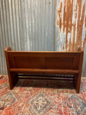 A small Victorian church pew - 138cm