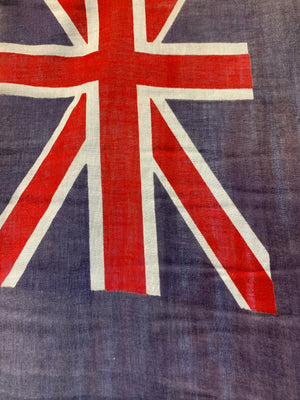 A Coronation flag on pike stand - Union Jack blue ensign