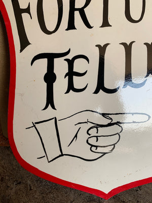A hand painted fairground advertising sign - Fortune Teller