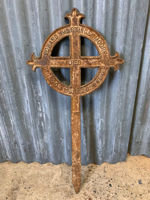 A cast iron grave marker - Moore
