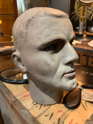 A hand-painted Sperling mannequin head form