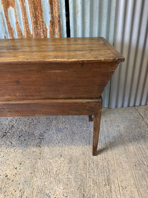 A 19th Century large wooden dough bin on stand