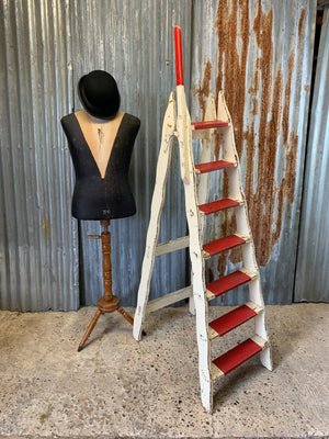A rare set of vintage circus ladders