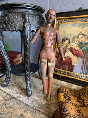 "A very large 19th Century wooden artist's lay figure 23""/59cm"