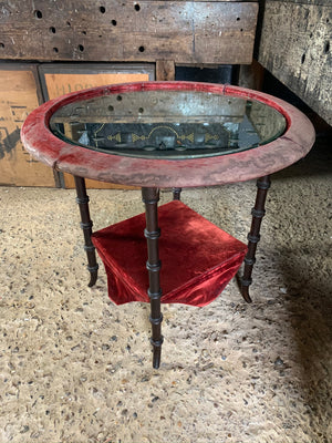 A Victorian seance table with sorcerer's mirror top