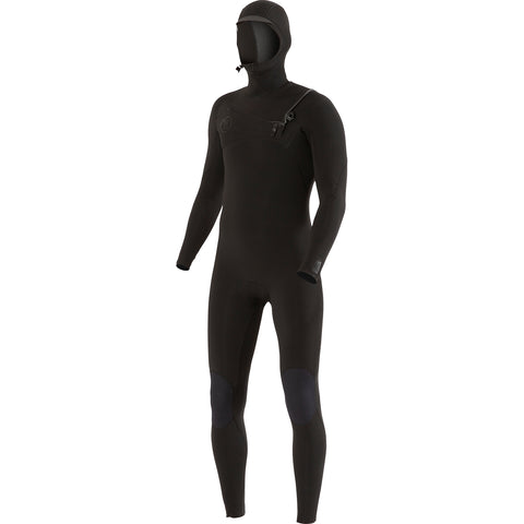 7 Seas 5/4/3 Hooded Full Suit - Black Stealth