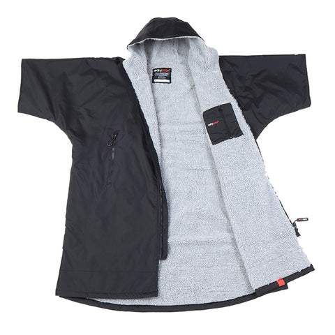 Dryrobe Advance Short Sleeve Medium - Black/Grey