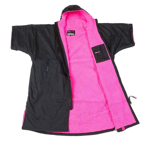 Dryrobe Advance Short Sleeve Large - Black/Pink