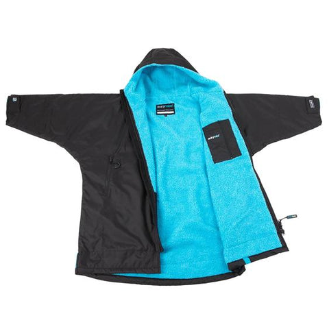 Dryrobe Advance Long Sleeve Medium - Black/Blue