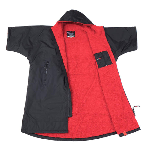 Dryrobe Advance Short Sleeve Medium - Black/Red