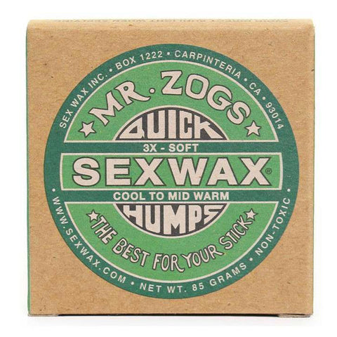 Sex Wax Quick Humps - 3x Cool to Mid Warm